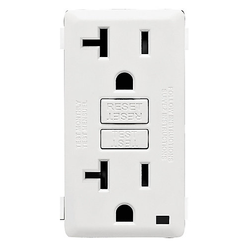 Face Plate for 20A GFCI Receptacle (Wallplate not Included) in White