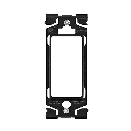 Anneau adapteur (Permet d'intégrer n'importe quel dispositif Decora à une plaque murale) en Noir Onyx