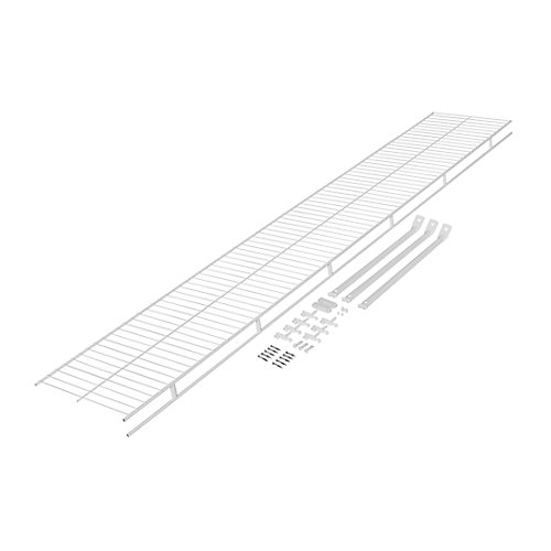 Wardrobe 12-inch x 6 ft. Shelf with Installation Hardware