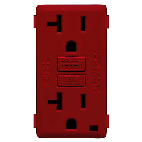 Face Plate for 20A GFCI Receptacle (Wallplate not Included) in Red Delicious