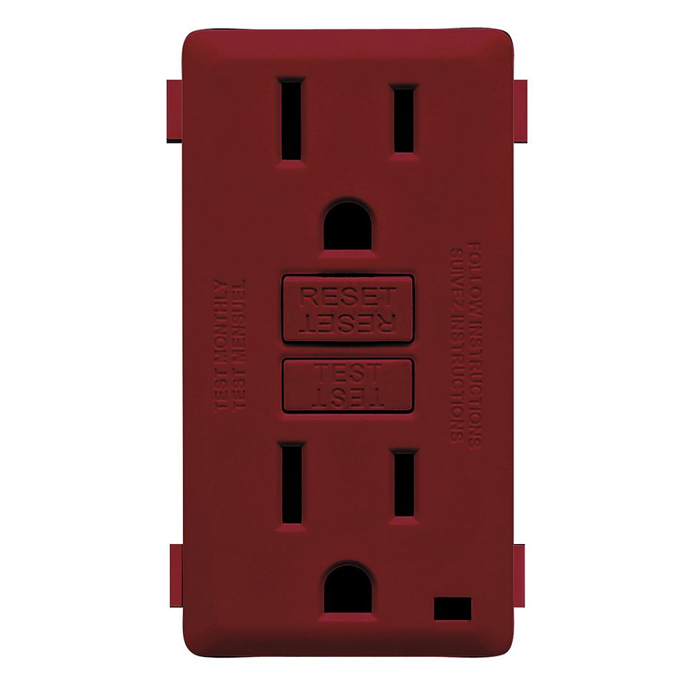 Leviton Renu Face Plate for 15A GFCI Receptacle (Wallplate not Included) in Deep Garnet