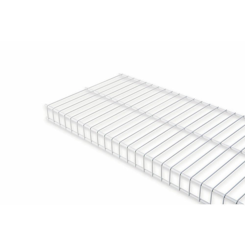 Rubbermaid 16 Inch X 6ft White Linen Shelf