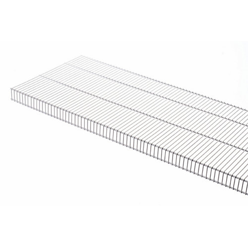 TightMesh 20-inch x 4 ft. Wire Shelf in White
