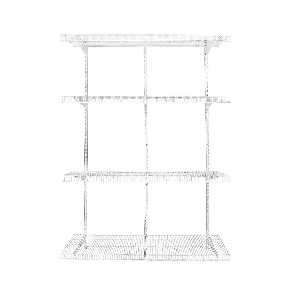 Rubbermaid White Wire Adjustable Pantry Shelving Kit