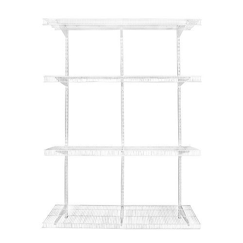 White Wire Adjustable Pantry Shelving Kit