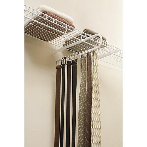 Sliding Tie & Belt Rack Support