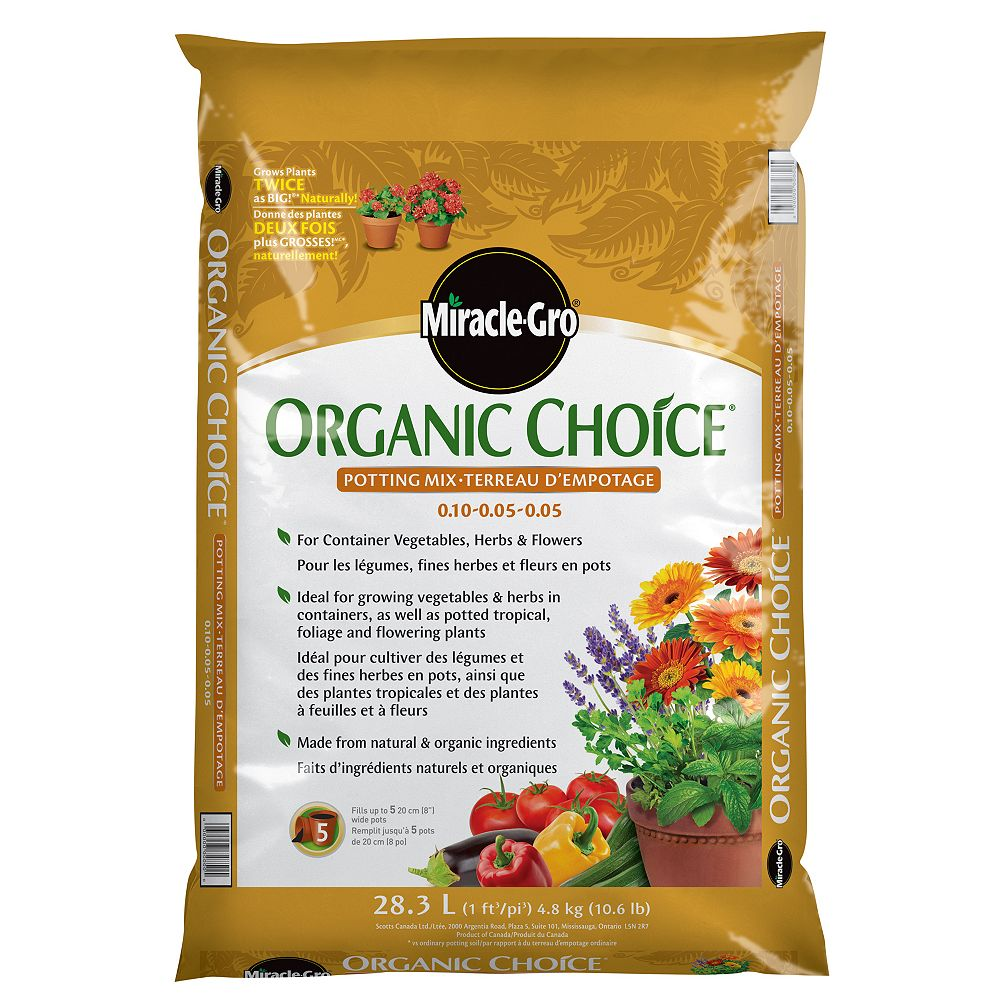 Miracle-Gro Terreau d'empotage Miracle-Gro Organic Choice