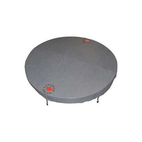 Canadian Spa Company 80-inch Dia Round Hot Tub Cover with 5-inch/3-inch Taper in Grey
