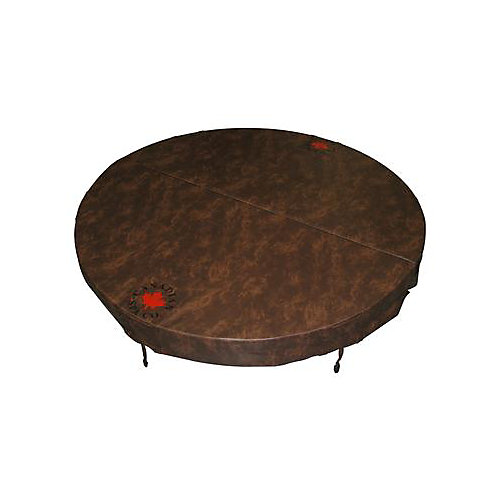 78-inch Dia Round Hot Tub Cover with 5-inch/3-inch Taper in Chestnut