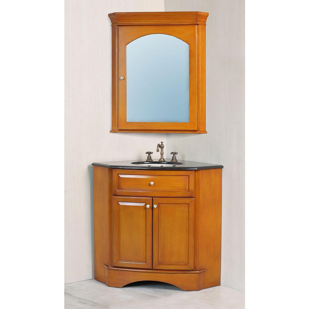 Stufurhome Marcia 28-inch W Vanity in Brown