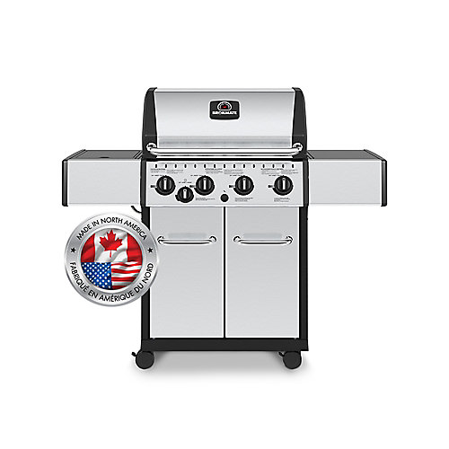 4-Burner Natural Gas BBQ in Stainless Steel