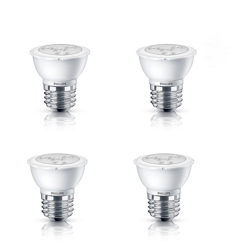 Philips LED 4.5W = 50W PAR16 Bright White (3000K) - Case of 4 Bulbs