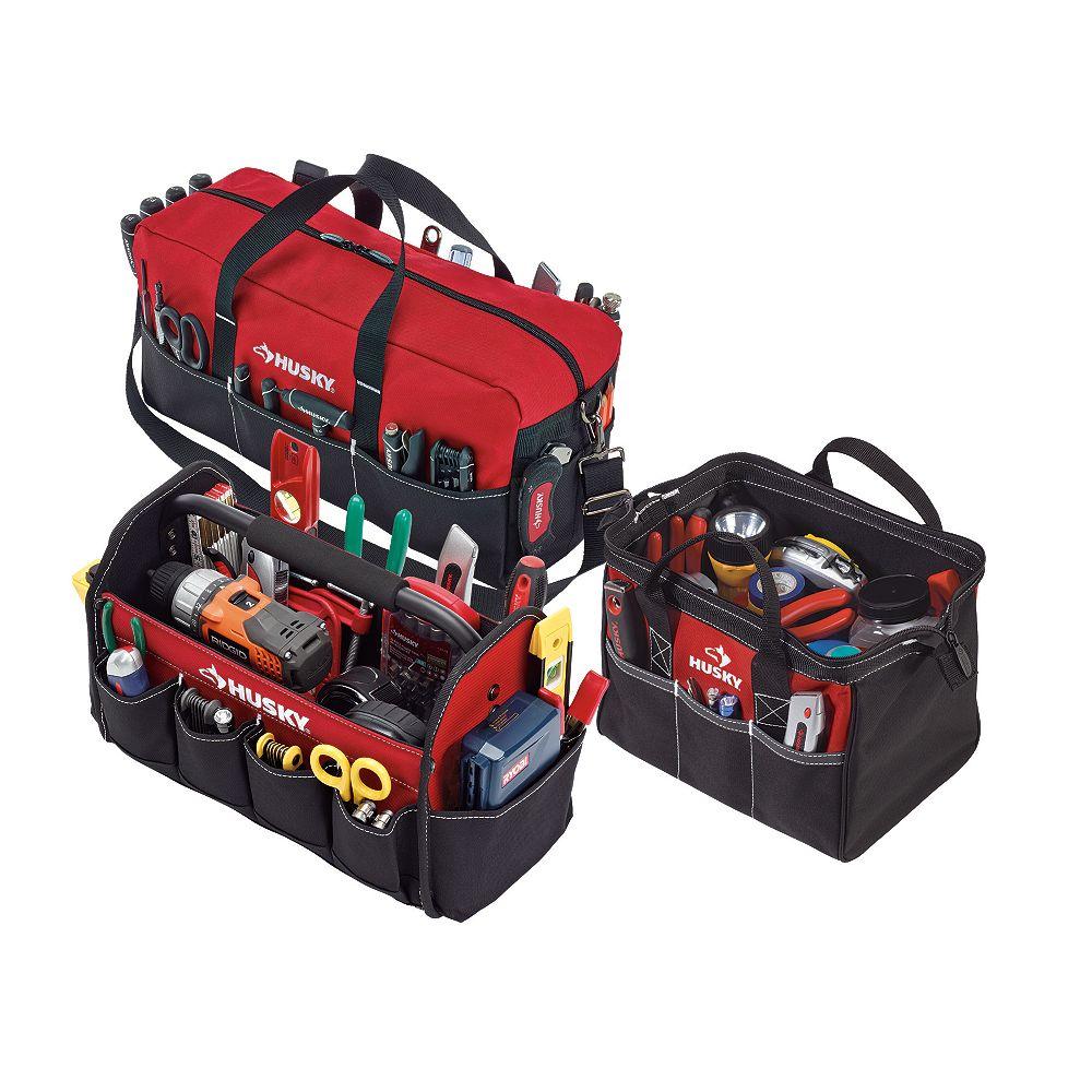 Husky Tool Bag Set (3-Piece)