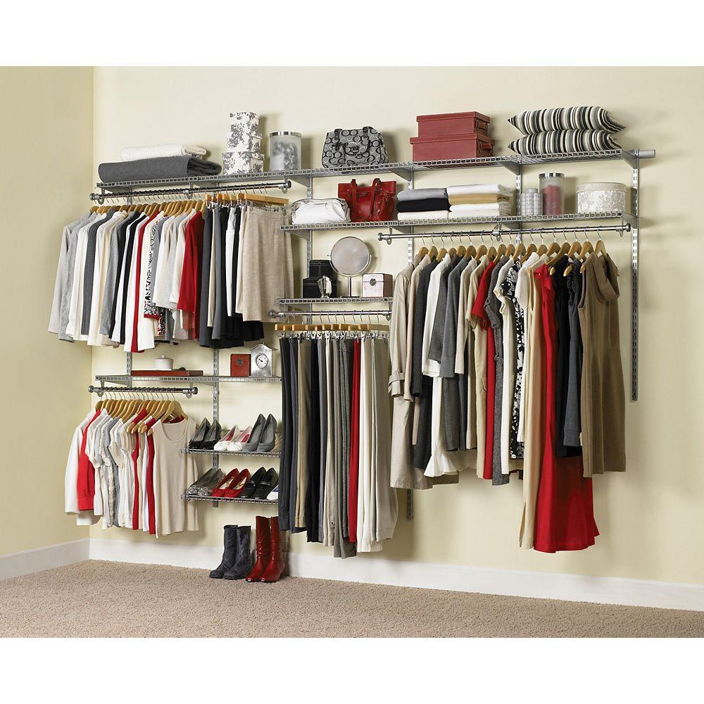Rubbermaid Configurations 6 ft. to 10 ft. Custom Closet Kit 1000680715