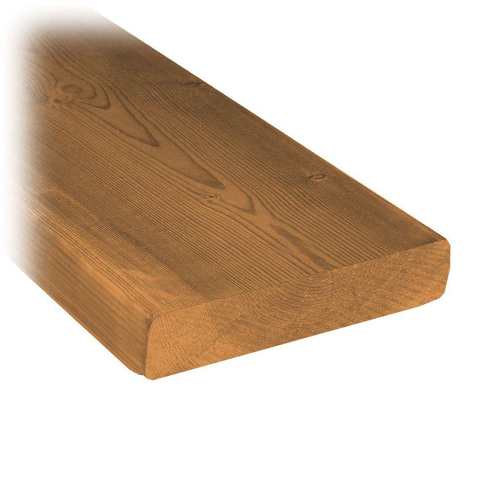 MicroPro Sienna 5/4 x 6 x 10' Pressure Treated Wood Decking LXSP5406K10