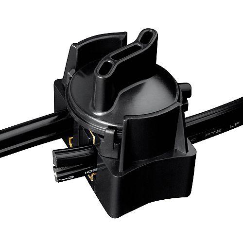 Low-Voltage Black Cable Splice Connector