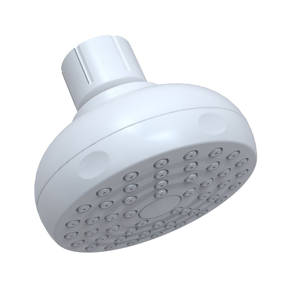Glacier Bay Full Spray Single-Spray Showerhead in White