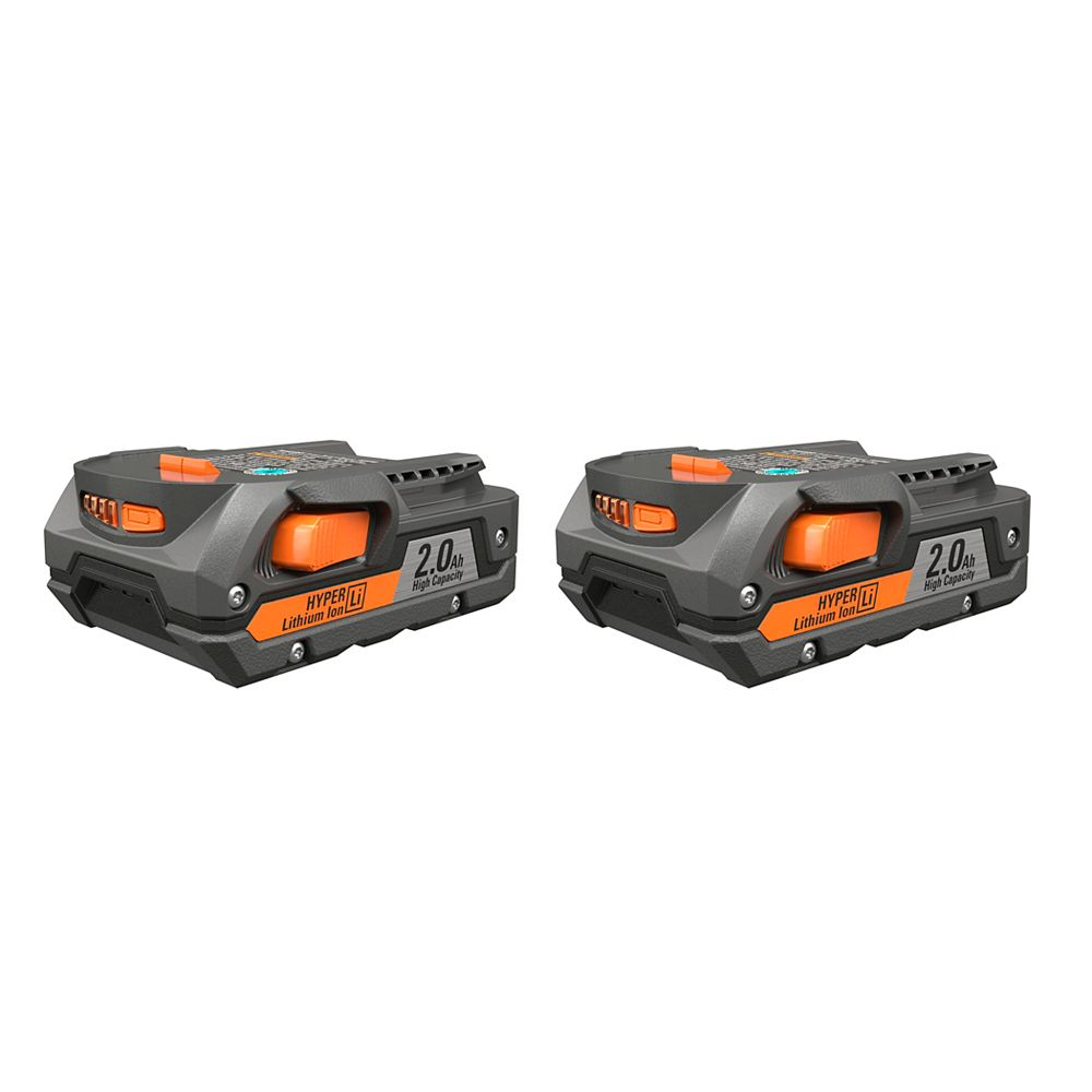 RIDGID 18V 2.0Ah Lithium-Ion Battery (2-Pack)