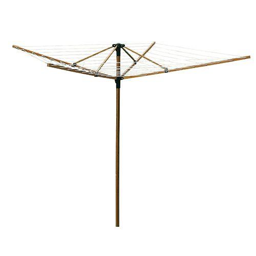 Corde à linge pliante en bambou de luxe