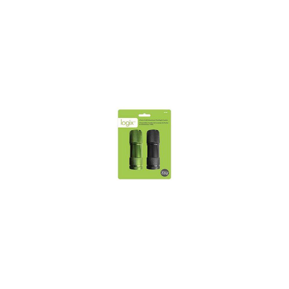 Logix 9 LED Aluminum Flashlight Combo (2-Pack)