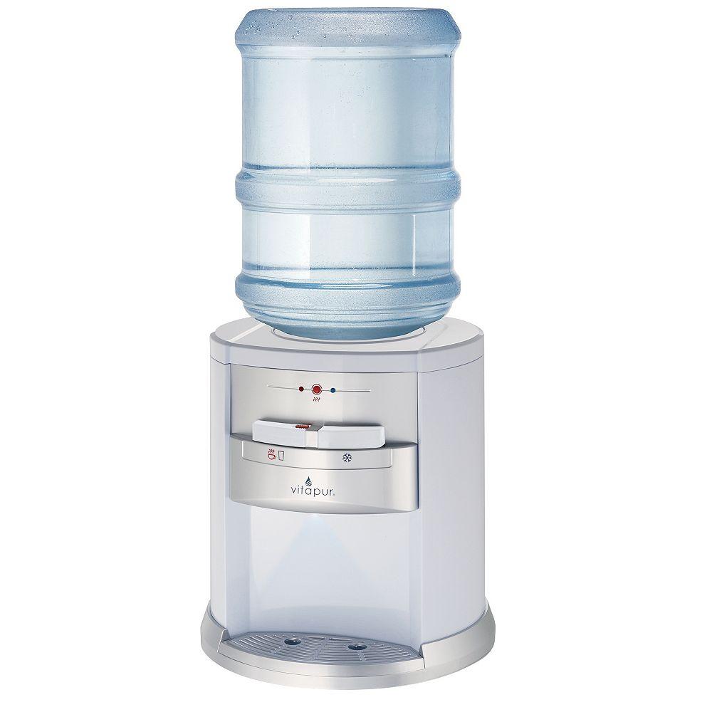Vitapur Vitapur Comptoir distributeur d'eau, Noir et l'acier inoxydable