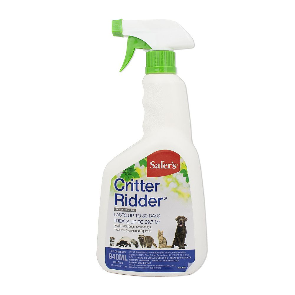 Safer Chemfree Critter Ridder Animal Repellent Ready To Use Spray 940ml The Home Depot Canada