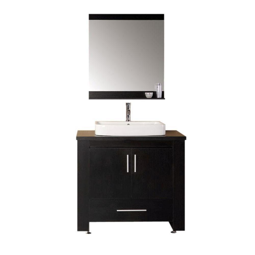 Design Element Washington 36-inch W Vanity in Brown