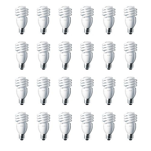 13W = 60W Soft White (2700K) Mini Twister CFL Light Bulb- (24-Pack)