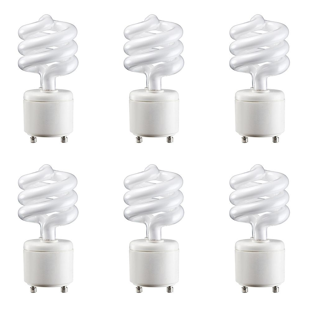 Philips 13W=60W Soft White  GU24 Mini Twister Compact Fluorescent Light Bulb (6-pack)