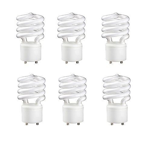 23W=100W Soft White  GU24 Mini Twister Compact Fluorescent Light Bulb (6-pack)