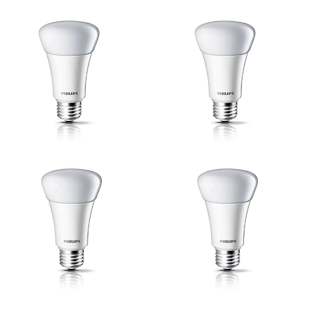 Philips 11W Soft White A-Line LED Light Bulb (4-Pack)