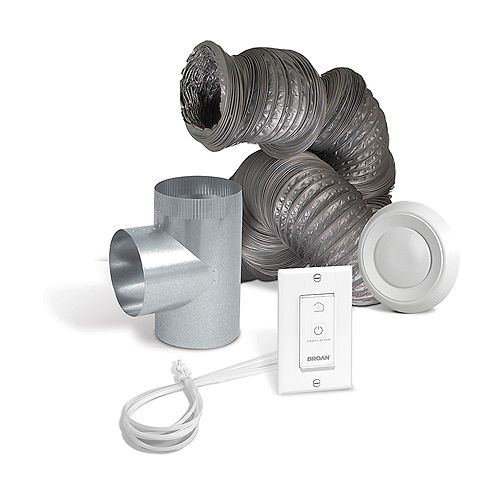 Optional bathroom installation kit for air exchangers EVO5 500 HRV or EVO5 700 HRV HEPA
