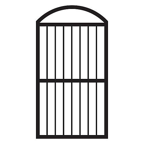 Portillon arqué pour clôtures, aluminium, noir