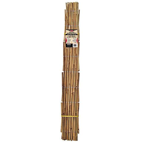 Clôture en bambou naturel - 6pi