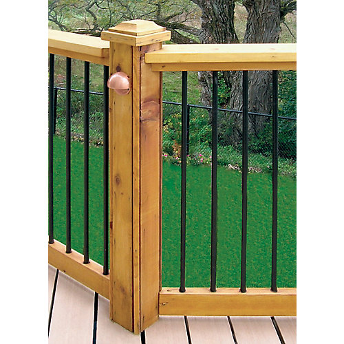 Horizontal Deck Rail Kit in Black