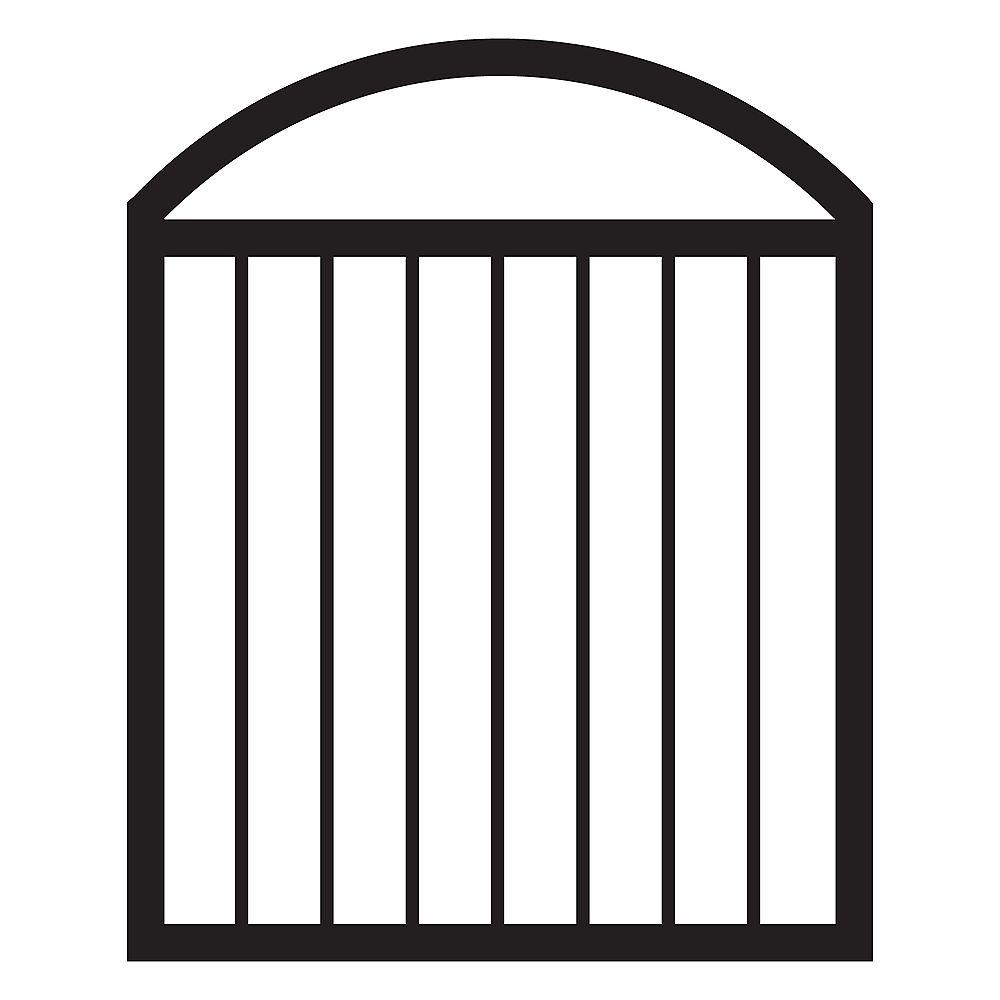Veranda 36-inch W x 44 1/4-inch H x 1 1/2-inch D Pre-Assembled Aluminum Arched Deck Gate in Black