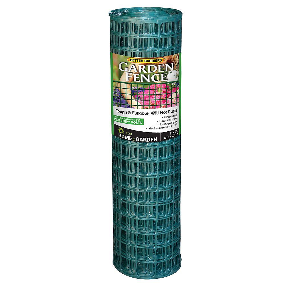 Quest Plastics Green Garden Fence