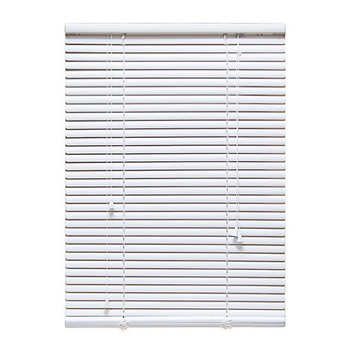 "24 in. x 72 in. White 1"" Aluminum Blind"
