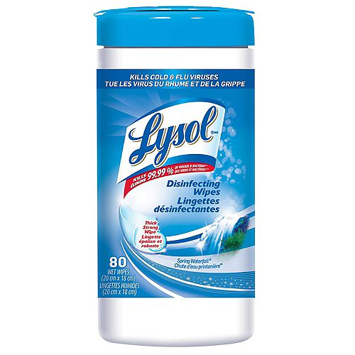 Disinfecting Surface Wipes, Spring Waterfall (80 Wipes)