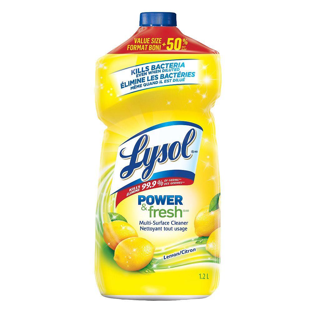 Lysol Nettoyant tout usage à diluer dans l'eau, Citron, 1,2L, nettoyant tout usage