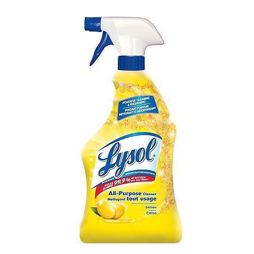 Lysol All Purpose Cleaner, Trigger, Lemon, 650ml, Powerful Cleaning & Freshening