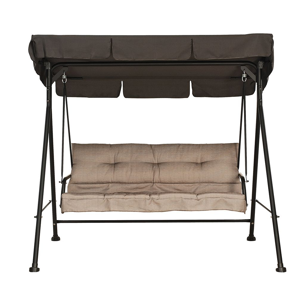hdg 3 person patio swing with cushion