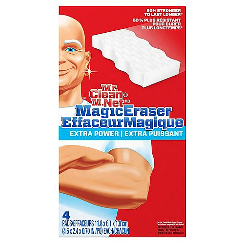 Magic Eraser Extra Durable, Cleaning Pads with Durafoam, 4 count