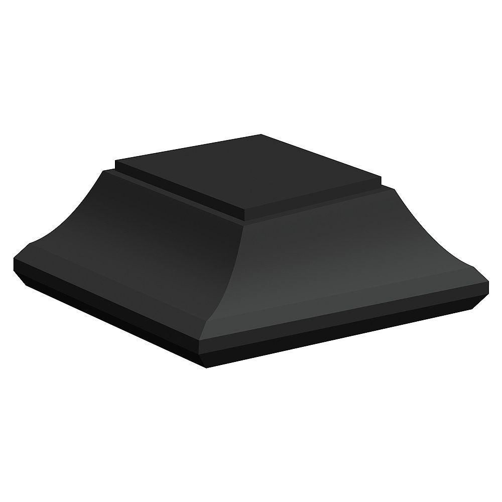 Veranda 6-inch x 6-inch Rigid Plastic Post Cap in Black for Deck or Fence Post
