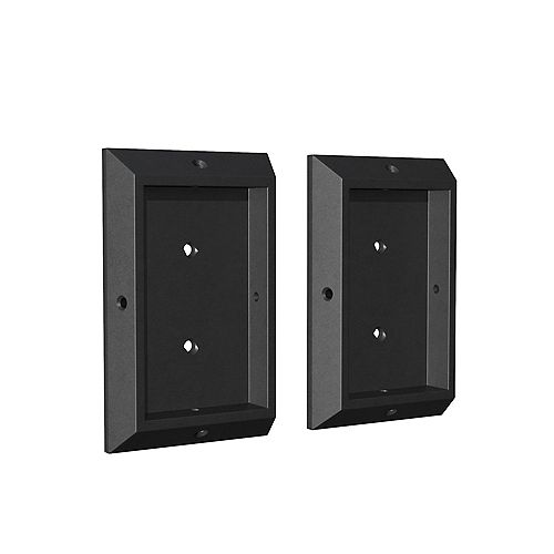 2-inch W x 4-inch H Rigid Plastic 4-Sided Deck Rail Brackets in Black (2-Piece)