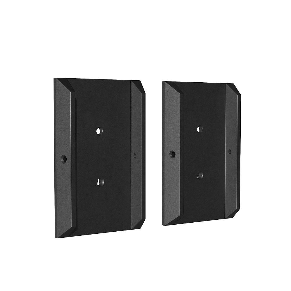 Veranda 2-inch W x 4-inch H 2-Sided Rigid Plastic Deck Rail Brackets in Black (2-Piece)