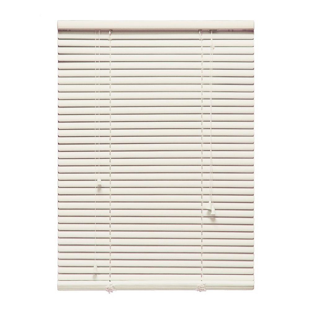 "Perfect Home Essentials 72 in. x 72 in. Alabaster 1"" Aluminum Blind"