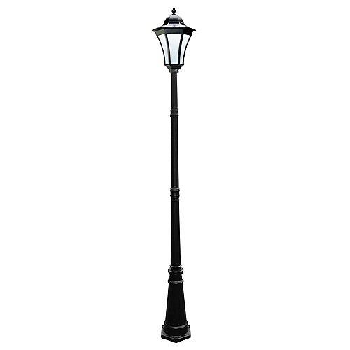 Lampadaire solaire Essex d'extérieur (couleur noir) - 7,5 pieds de hauteur