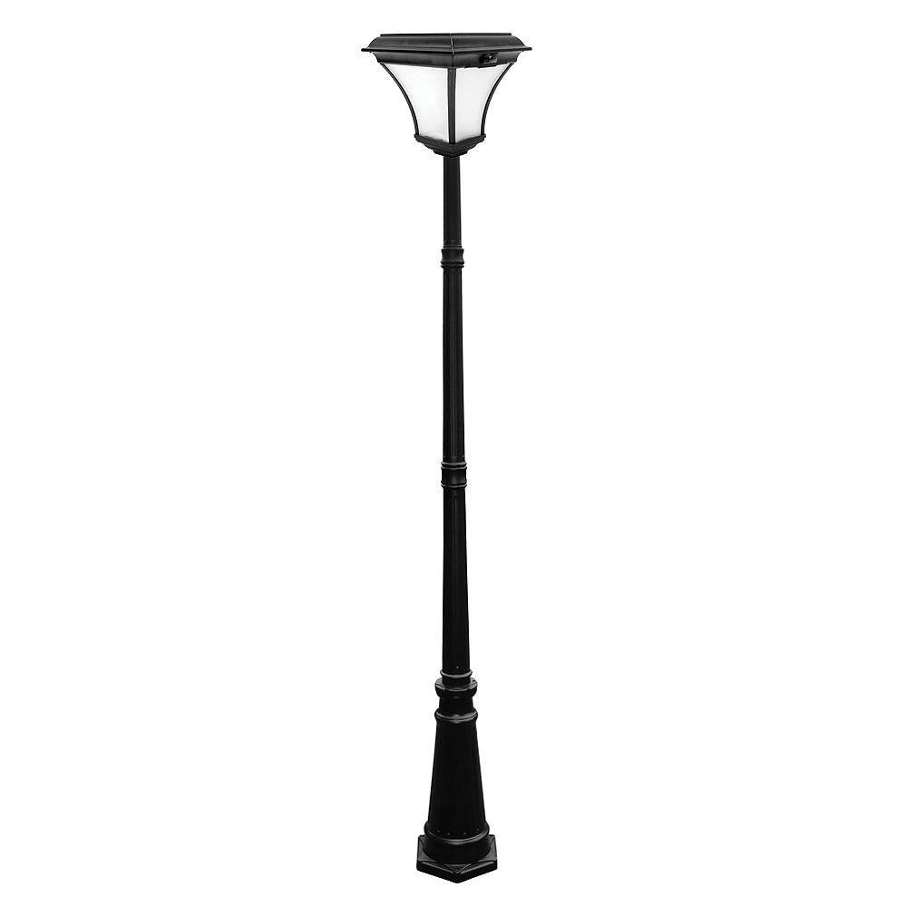 Nature Power Lampadaire solaire Kona d'extérieur (couleur noir) - 88 po. de hauteur