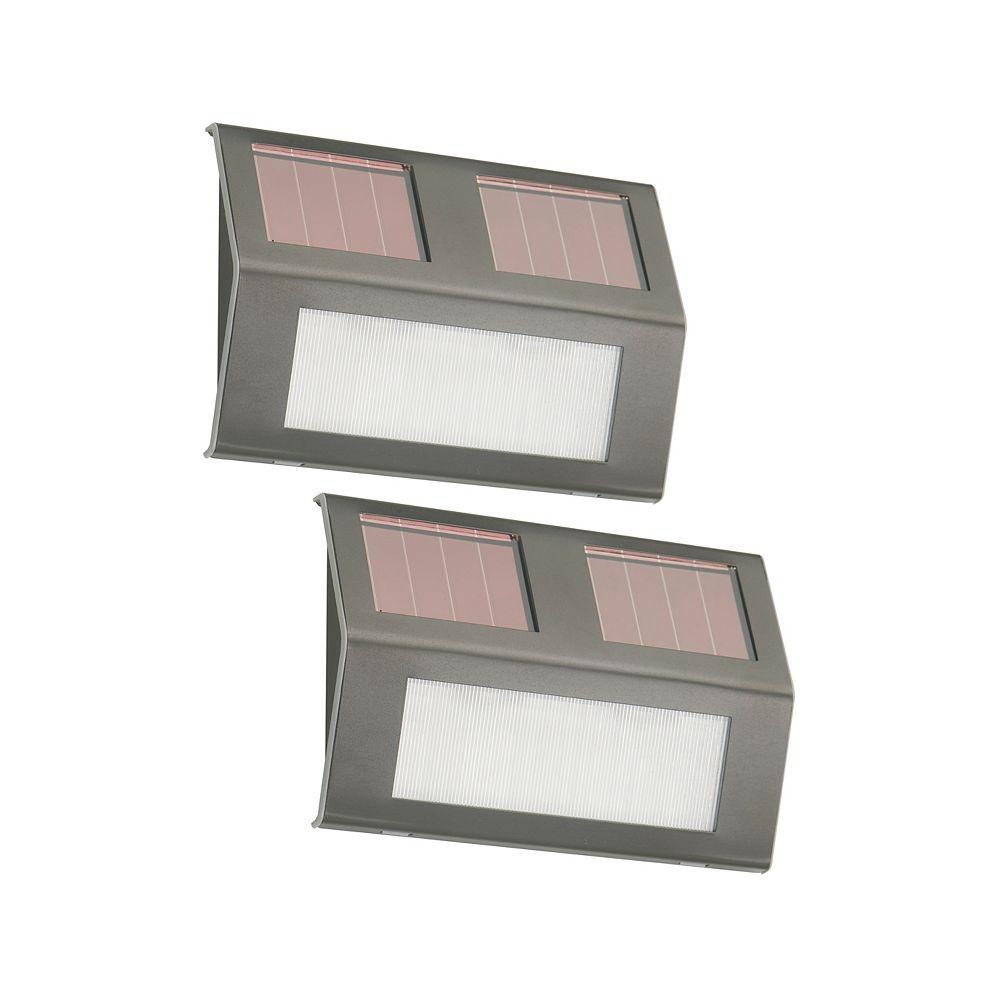 Nature Power Bronze Solar-Powered Step Lights (2-Pack)